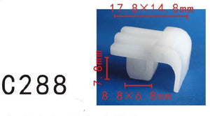 20x Fit Toyota 81124-89101 Nylon Headlight Spacer Retainer Clips 7mm Square Hole