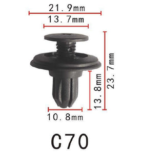 20x Plastic Screw Fastener Rivet Clip Fit For Nissan 86~