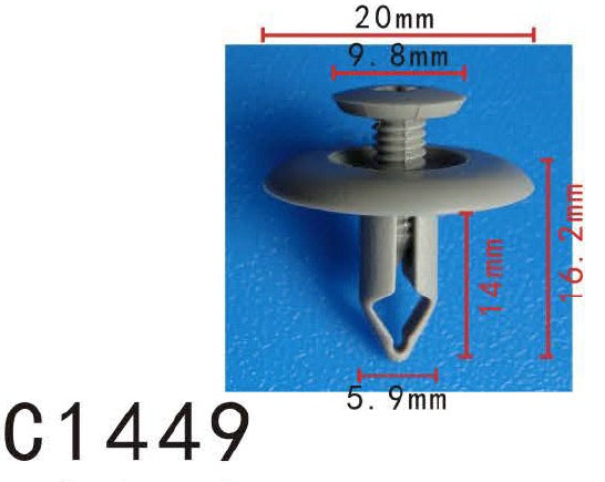 20pcs Fit HONDA MAZDA Push Type Retainer Clip- B04-6-86-05- Autobahn88