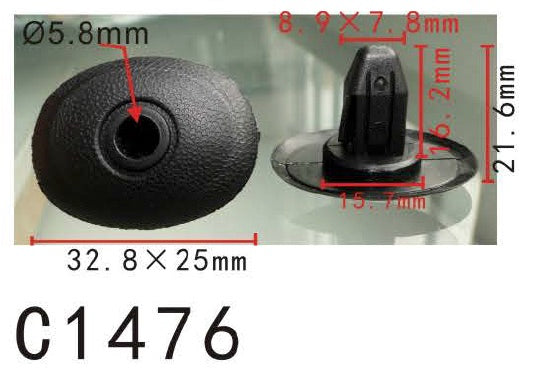 20pcs Rear Bumper Cover Grommet 99011FC000NN For Subaru 199-2002- Autobahn88
