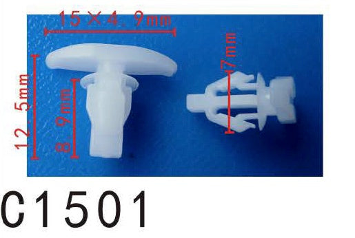 20pcs Fit Toyot,Honda 678675201,678670D06,91563SCV003 Weatherstrip Retainer Manufacturer Part Number:6786752010