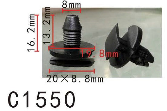 20pcs Fit Peugeot 856553 Mud Shield Retainer Manufacturer Part Number:856553