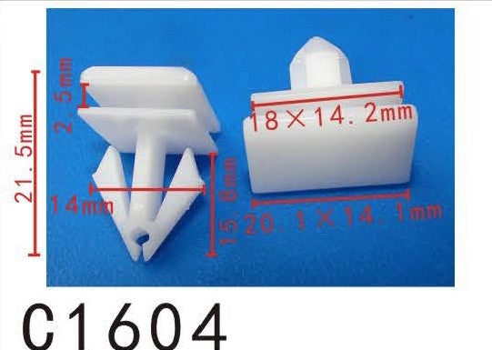 20pcs Fit Chrysler Dodge Liberty 0-On 68092697AA Rocker Panel molding Clip Manufacturer Part Number:68092697AA