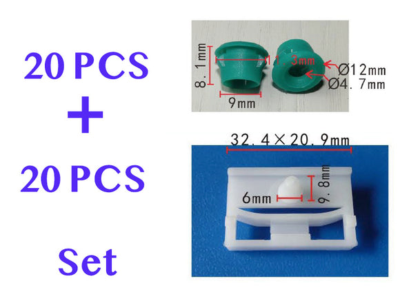 BMW SIDE SILL SKIRT TRIM MOULDING CLIPS GROMMET PLASTIC E36 E46 E91 3 Series 51718184574, 51711932996 PF-C1785-C1482-20pcs