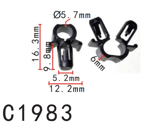 20pcs Fit MAZDA 9-03 Protege Hoo-Release Cable Clip D00156731- Autobahn88