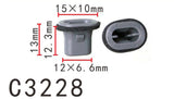 20PCS Door Handle Nylon Retainer Fastener Clip Fit NISSAN Grey Color C3228