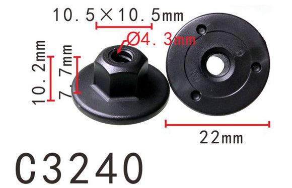 20PCS Chassis & Trunk Nylon Retainer Fastener Clip Fit BMW Black Color C3240