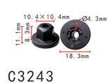 20PCS Rear Trunk Bumper Nylon Retainer Fastener Clip Fit BMW Black Color C3243
