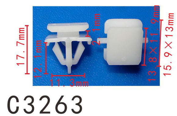 20PCS Side Shirt Bumper Nylon Retainer Fastener Clip Fit BMW White Color C3263