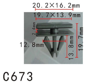 20pcs Fit GM Buick LeSabre Cadillac Concours 25693852 Rocker Panel molding Clip Manufacturer Part Number:25693852