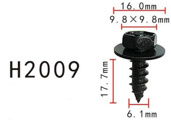 10PCS BUMPER / TRUNK / FENDER 18mm Long Self Tapping Screw Fit For TOYOTA