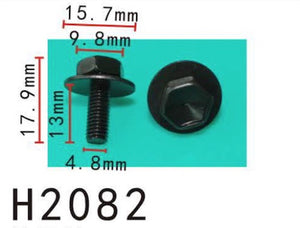 10PCS  M5 Screw with washer Fit For TOYOTA