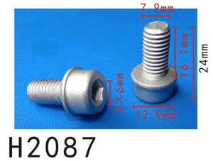 10PCS  M8 Metal Screw Fit For AUDI