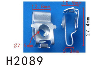 10PCS BUMPER / TRUNK / FENDER 8mm Hole Metal U-Clips For Self tapping screw Fit For AUDI