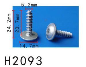 10PCS BUMPER / TRUNK / FENDER 21mm Long Self Tapping Screw Fit For AUDI