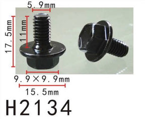 10PCS Fender M6 Screw   Fit For TOYOTA