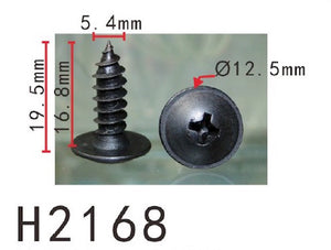 10PCS BUMPER / TRUNK / FENDER 17mm Long Self Tapping Screw Fit For NISSAN