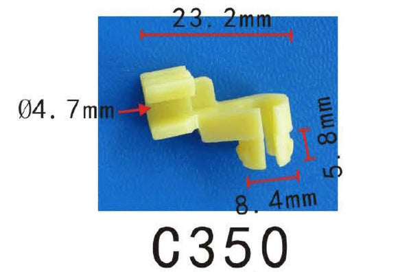 20 Nylon Fit Toyota #69293-12060 Door Lock Left 5mm Rod Size Clip Fit 8.5mm Hole