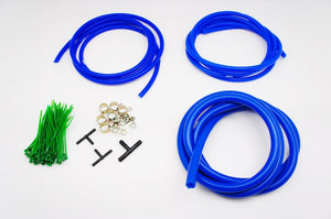 Silicone Vacuum Hose Assorted Kit Set, included 3mm / 4mm / 8mm / zip tie / spring clamp / T-joi