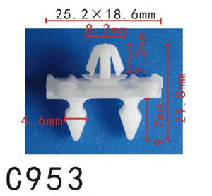20x Fit Mercedes Benz 001-988-46-81 Nylon Front & Rear Door Moulding Clip