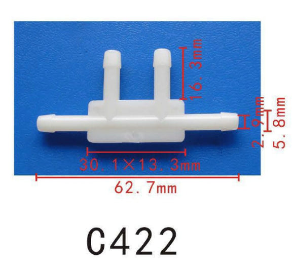 10pcs 5mm Nylon 4 Ways Hose Joiner Connector Adapter Vacuum Silicone Plastic