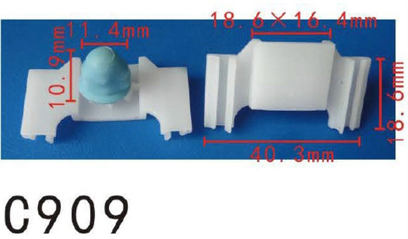20 Nylon Fit Audi VW Volkswagen #1H0-853-585-A Quarter Panel Mould Clip Retainer Fastener