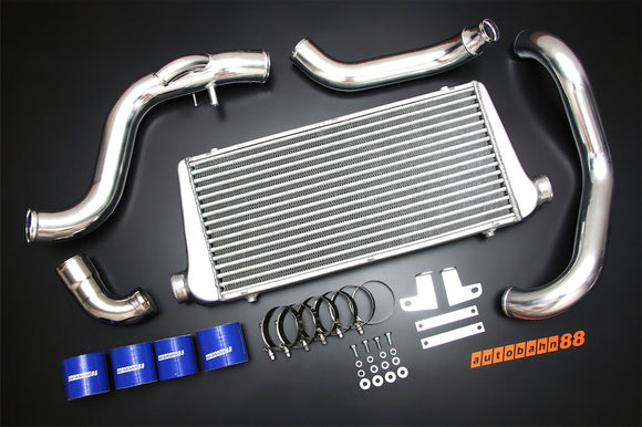 Front-Mount Intercooler Complete Kit, for Nissan Silvia S14 S15 200SX SR20DET, 1995-2002