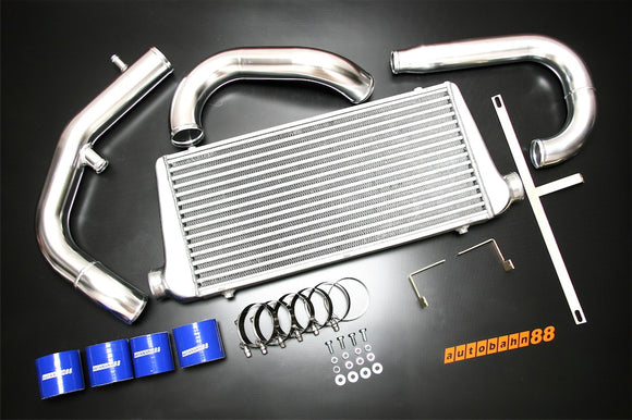 Front-Mount Intercooler Complete Kit, for Mitsubishi Lancer Evolution EVO 7 8 9 CT9A 4G63, 2001-2007