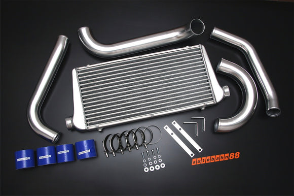 Front-Mount Intercooler Complete Kit, for Toyota Supra JZA80 2JZ-GTE, 1993-1997