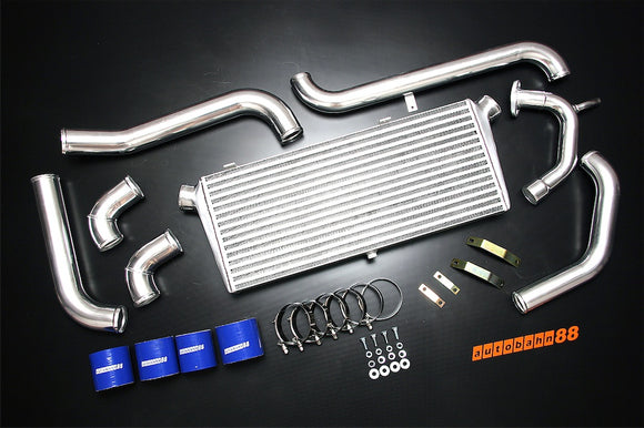 Front-Mount Intercooler Complete Kit, for Toyota Starlet EP82 EP91 4E-FTE, 1989-1999