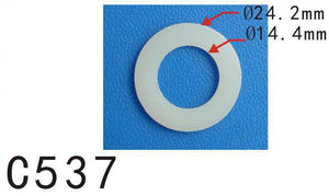 "20x Car Nylon Plastic Washer O Ring Seal 14mm 9/16"" M14 I.D. / 24mm 15/16"" O.D."