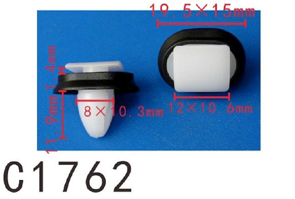 20PCS AUTOBAHN88 PANEL Retainer Clip with Sealer Fit For Fiat Citroen Renault