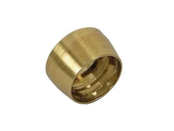 Olive Insert for PTFE Teflon Fuel Line Hose End, Pack of 5, AN-3, Brass