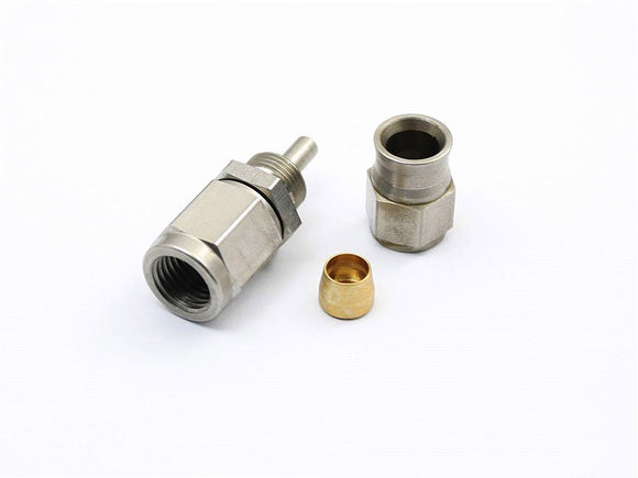 Stainless Steel Fitting Adapter, AN to Metric, Multiple Angle & Size