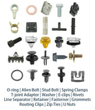 "20x Nylon Fit GM General Motor Hood Insulation Fastener Rivet Retainer Clip (2""x3/4""x5/16"")"
