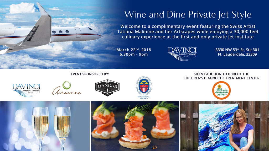Wine and Dine Private Jet Style