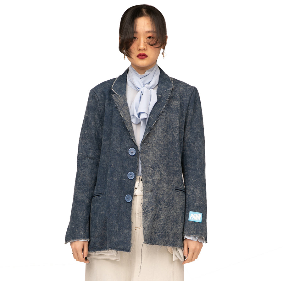 Trin Reversible Denim Blazer