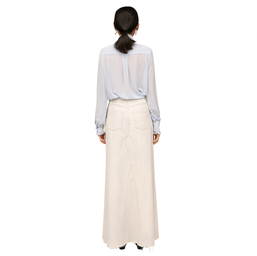 Anna Denim Maxi Skirt W Belt Bag