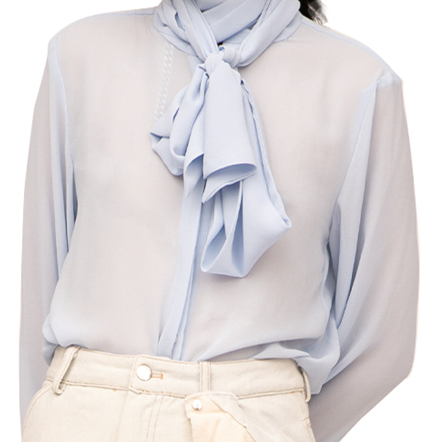 Halle Blue Mist Blouse