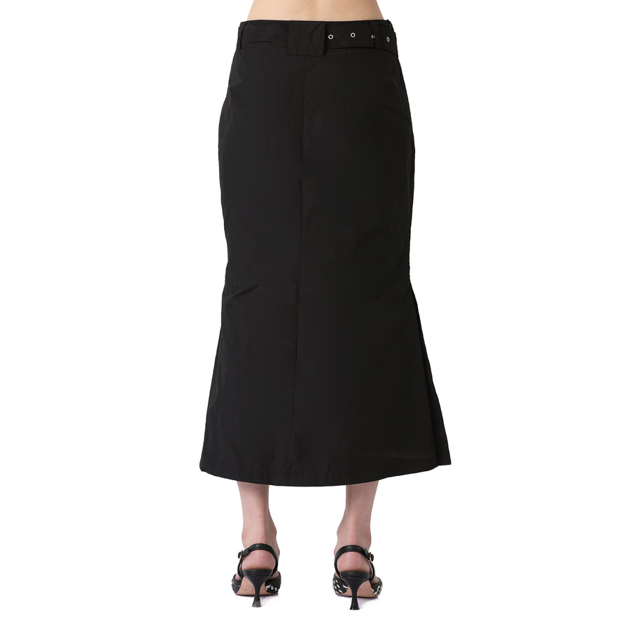 Alisha Open Waist Midi Skirt W Belt