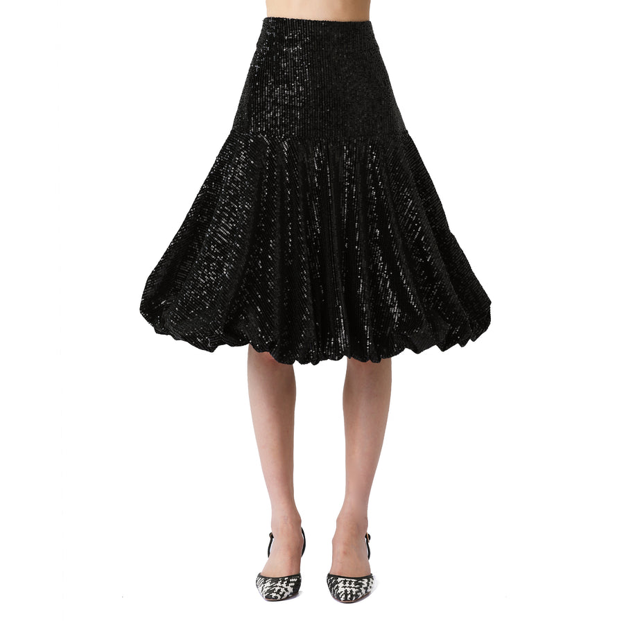 Allen Sequined Velvet Skirt
