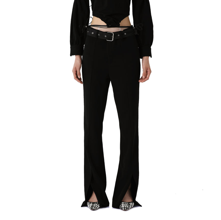 Mimosa Belt-detailed Silk Trousers