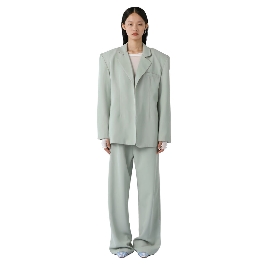 Marta Silk-detailed Suit Trouser Olive