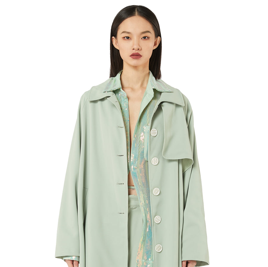 Linda Trench Coat in Olive