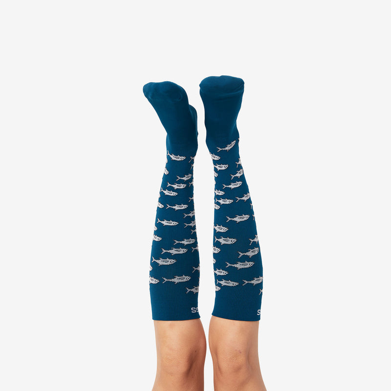 The Wildlife Collection Compression Socks - Tuna