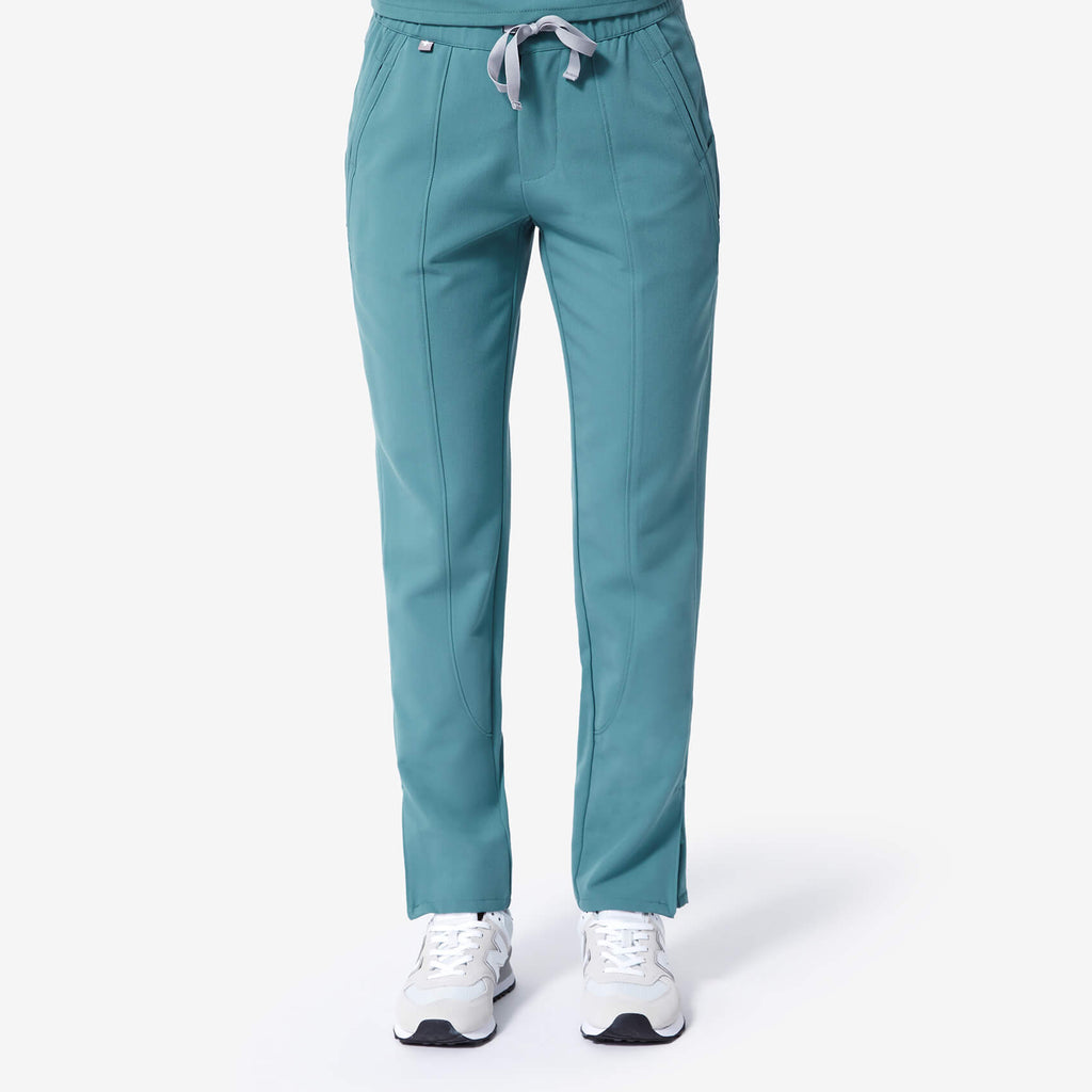 Women's Hydrogreen Cobija   Ankle Zip Scrub Pants by Figs