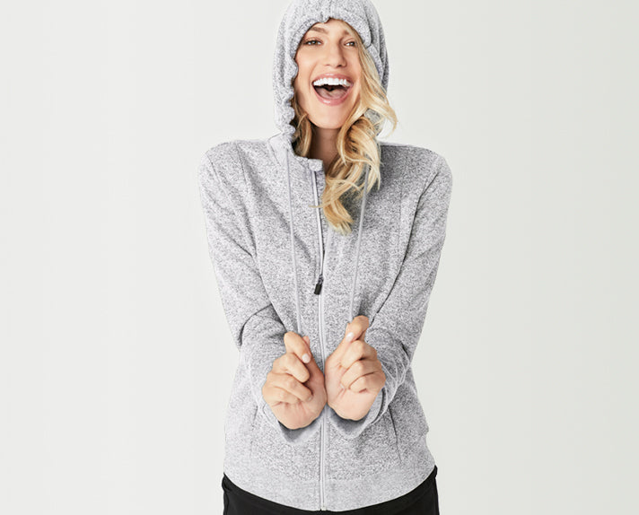 """A hoodie for the long haul. With an extra cozy funnel neckline, zipper with zipper-lock technology and our SuperSoft Sweatshirt fabric, we didn't name this """"essential"""" for nothing."""