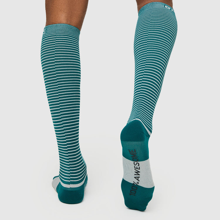 Teal Double Stripe