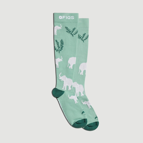 Save The Animals Elephant Compression Socks