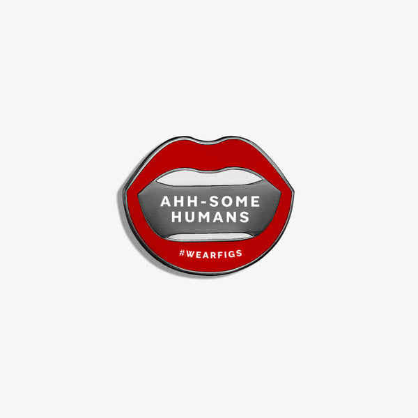 Ahh-Some Humans Enamel Pin